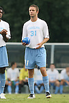 31 August 2008: UNC's Brian Shriver. The University of North Carolina Tar Heels defeated the Virginia Commonwealth University Rams 1-0 in overtime at Fetzer Field in Chapel Hill, North Carolina in an NCAA Division I Men's college soccer game.