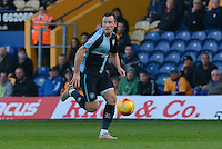 Wycombe Wanderers Garry Thompson bears down on goal during the Sky Bet League 2 match between Mansfield Town and Wycombe Wanderers at the One Call Stadium, Mansfield, England on 31 October 2015. Photo by Garry Griffiths.