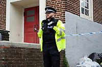 """Pictured: A general view of the crime scene at Cathays railway station in Cardiff, Wales, UK.  Monday 03 June 2019<br /> Re: The man who died following an incident in a lane near Cathays Railway Station has been named as 18-year-old Fahad Mohamed Nur.<br /> Officers were called to a lane adjacent to the railway line which links Park Place to Corbett Road at approximately 00:24hrs on Sunday, June 2 following reports that a man had been stabbed.<br /> Mr Nur, who is from Cardiff, was taken to the University Hospital of Wales, Cardiff, where he died from his injuries.<br /> His family is being supported by specially trained officers.<br /> No further action is being taken against two local men, aged 17 and 18, who were arrested in connection with the incident.<br /> They have been released from police custody.<br /> Officers are appealing for information, believing the area to be busy at the time of the incident.<br /> They would like to speak to anybody who may have witnessed the incident, or who may have seen anything suspicious before or after.<br /> Senior Investigating Officer, Detective Chief Inspector Mark O'Shea, from South Wales Police, said: """"A young man has tragically lost his life and we are doing all we can to identify and arrest those responsible for the murder of Fahad Mohamed Nur.<br /> """"A police cordon remains in place and we thank the local community for their support and patience while we continue our investigation."""