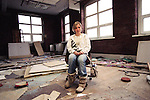 Danielle, aged 14 in an abandoned factory in Burnley. Danielle has run away over 80 times. She ran away due to family breakdown and adjusting to new stepfamily and has been exposed to high-risk situations and risk of sexual exploitation.<br />