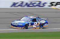 Oct. 3, 2009; Kansas City, KS, USA; Nascar Sprint Cup Series driver Kurt Busch during practice for the Price Chopper 400 at Kansas Speedway. Mandatory Credit: Mark J. Rebilas-
