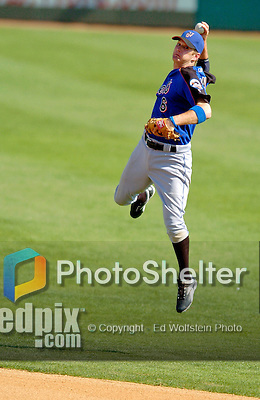18 March 2006: Jeff Keppinger, infielder for the New York Mets, makes a play at second during a Spring Training game against the Washington Nationals at Space Coast Stadium, in Viera, Florida. The Nationals defeated the Mets 10-2 in Grapefruit League play...Mandatory Photo Credit: Ed Wolfstein Photo..