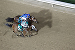Fortune Play (#5) with Feddie Lenclud aboard wins the Roxelana under the lights at Churchill Downs July 1, 2011.