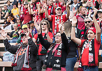 Seattle, WA - Saturday Aug. 27, 2016: Fans prior to a regular season National Women's Soccer League (NWSL) match between the Seattle Reign FC and the Portland Thorns FC at Memorial Stadium.