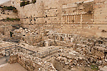 Israel, Jerusalem Archaeological Park, the dwellings' remains by the Western Wall are mainly Herodian, Byzantine and Umayyad<br />