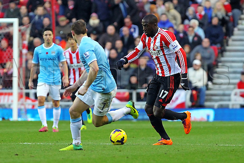 10.11.2013 Sunderland, England. Jozy Altidore in action  during the Premier League game between Sunderland and Manchester City from the Stadium of Light.