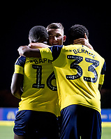Celebrations after Shandon Baptiste of Oxford United winning goal during the The Leasing.com Trophy match between Oxford United and Norwich City U21 at the Kassam Stadium, Oxford, England on 3 September 2019. Photo by Andy Rowland.