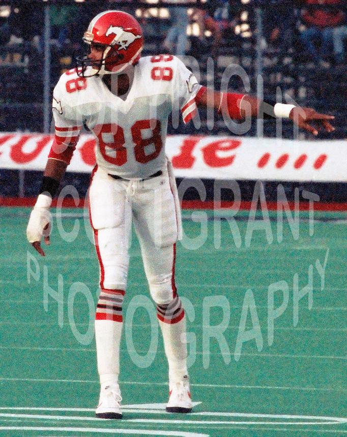Ray Alexander Calgary Stampeders 1986. Photo F. Scott Grant