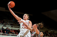 STANFORD, CA-JANUARY 18, 2012 - Joslyn Tinkle drives for two in the first half against the Washington State Cougars.