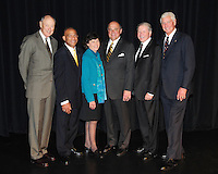 Ab Nicholas, Lee Kemp, Judith Sweet, Barry Alvarez, Bob Harlan, and John Powless are inducted into the 2009 Wisconsin Sports Hall of Fame