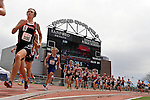 SIOUX FALLS, SD - MAY 3:  Justice Lammer from Brookings runs during the boys 1600 meter final Saturday at the 2014 Howard Wood Dakota Relays. (Photo by Dave Eggen/Inertia)