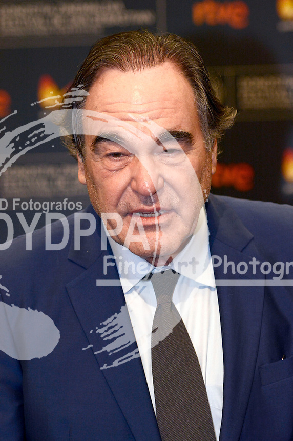 Oliver Stone during the 'Snowden' press conference at the 64th San Sebastian International Film Festival at the Kursaal Palace on September 22, 2016 in San Sebastian, Spain.