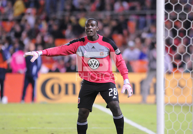 D.C. United goalkeeper Bill Hamid (28).  Sporting Kansas City defeated D.C. United 1-0 at RFK Stadium,Saturday October 22, 2011.