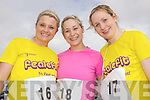 Getting ready for the Feale Fit Annual Easter 5k run was Ciara Collins with sisters Katie and Clara Daly pictured last Sunday in Abbeyfeale.