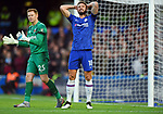 Olivier Giroud of Chelsea and West Ham United goalkeeper David Martin during the Premier League match at Stamford Bridge, London. Picture date: 30th November 2019. Picture credit should read: Robin Parker/Sportimage