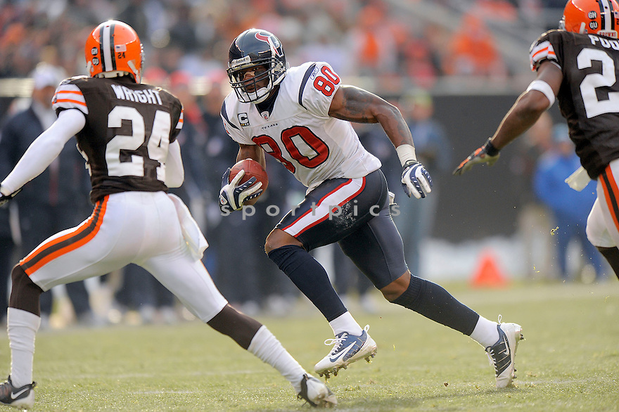 ANDRE JOHNSON, of the Houston Texans in action against the Cleveland Browns during the Texans  game in Cleveland Ohio on November 16, 2008..The Texans win the game 16-6
