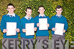 David Enright, Mark Behan, Darragh Kennelly and Bryan Greaney all received their Junior Certificate results on Wednesday from St Michael's Secondary School, Listowel.