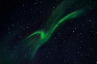 This birdlike display of the Northern Lights is, directly overhead. (Photo by Travel Photographer Matt Considine)