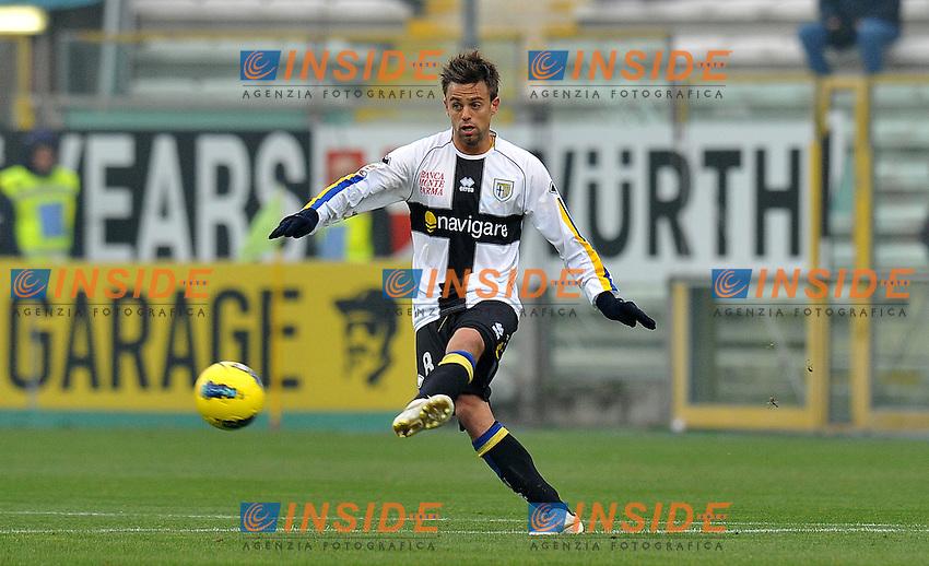 """Daniele GALLOPPA (Parma).Parma 20/11/2011 Stadio """"Ennio Tardini"""".Serie A 2011/2012.Football Calcio Parma Vs Udinese.Foto Insidefoto Alessandro Sabattini."""