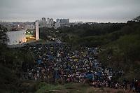SAO PAULO 11.09.2014 - MTST ATO NO MORUMBI - <br /> <br /> Membros do MTST e moradores da ocupacao Chico Mendes protestam contra o condominio paulistano no bairro do Morumbi regiao sul na noite desta quinta-feira (11). O Ato ocorreu de forma pacífica sem maiores dificuldades para os orgaos de segurança publica e sem danos ao patrimonio público. <br /> (FOTO: FABRICIO BOMJARDIM/BRAZIL PHOTO PRESS)