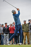 Jordan Spieth (USA) watches his tee shot on 17 during round 2 of the AT&T Byron Nelson, Trinity Forest Golf Club, Dallas, Texas, USA. 5/10/2019.<br /> Picture: Golffile | Ken Murray<br /> <br /> <br /> All photo usage must carry mandatory copyright credit (© Golffile | Ken Murray)