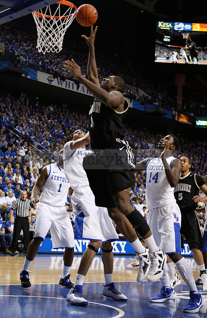 Festus Ezeli takes a shot during the first half of the UK game against Vanderbilt University, in  Rupp Arena, on Saturday, Feb. 25, 2012. Photo by Latara Appleby | Staff ..