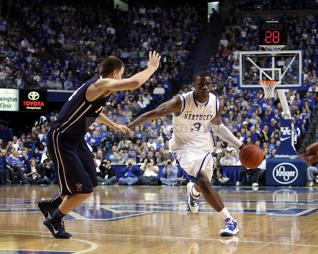 Terrence Jones drives the ball down the court in the second half of UK's win over the Penn Quakers at Rupp Arena on Jan. 3, 2011. Photo by Britney McIntosh | Staff