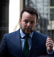 Social Democratic &amp; Labour Party (SDLP) delegation: Colum Eastwood (Leader), Claire Hannah and Sinead Bradley.<br />
