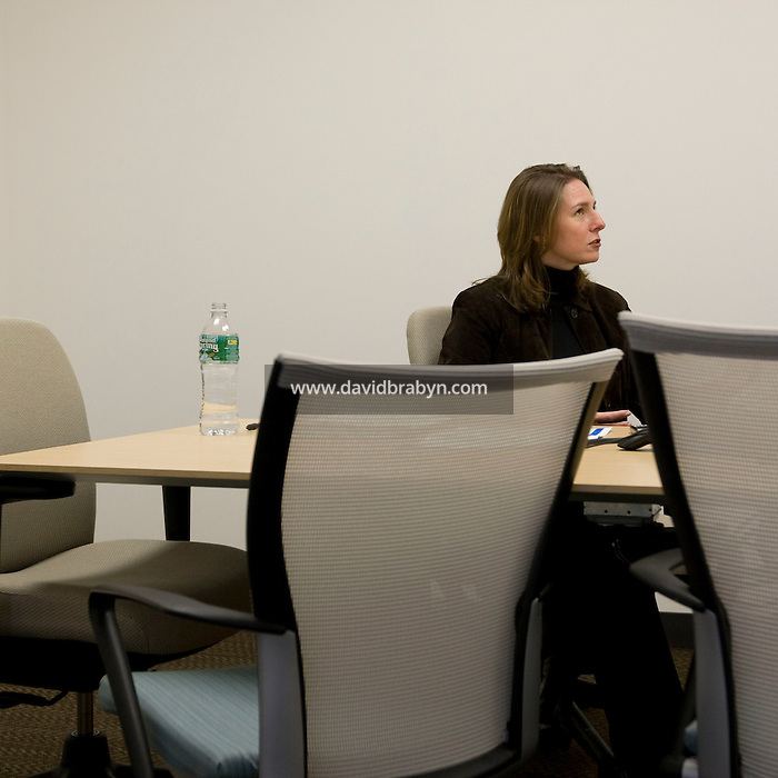 Leigh Walton attends a meeting at the Pitney Bowes world headquarters in Stamford, CT, United States, 7 October 2008.