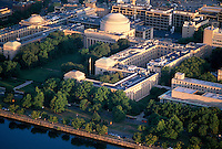 MIT Mass Institute of Technology aerial view, Cambridge, MA