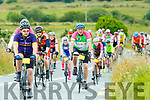 Cyclists on the road to Caherdaniel during their Ring of Kerry cycle on Saturday morning