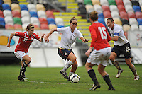 Lauren Cheney vs Norway in the 2010 Algarve Cup.