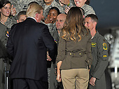 United States President Donald J. Trump and first lady Melania Trump greet service men ann women after he delivered remarks to military personnel and families in a hanger at Joint Base Andrews in Maryland on Friday, September 15, 2017.  He visited JBA to commemorate the 70th anniversary of the US Air Force.<br /> Credit: Ron Sachs / CNP
