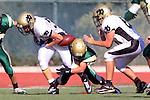 Manhattan Beach, CA 10/27/11 - Luke Morrow (Peninsula #33) in action during the Peninsula vs Mira Costa Junior Varsity football game.