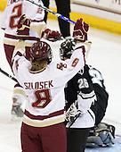 Allison Szlosek (Boston College - 8) - The Providence College Friars and Boston College Eagles tied at 1 on BC's senior night on Saturday, February 21, 2009, at Conte Forum in Chestnut Hill, Massachusetts.