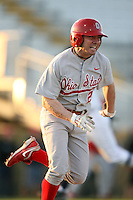 February 21, 2009:  Infielder Michael Arp (2) of The Ohio State University during the Big East-Big Ten Challenge at Jack Russell Stadium in Clearwater, FL.  Photo by:  Mike Janes/Four Seam Images