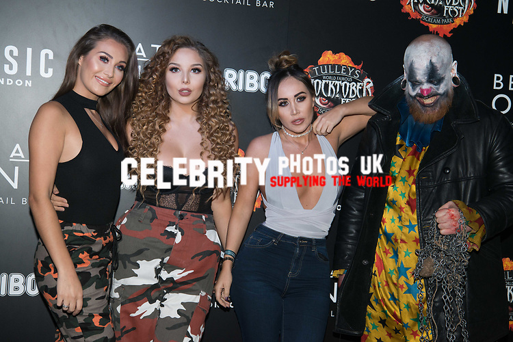 Lauren Goodman, Chloe Goodman at the Opening of Shocktober at  Tulleys Farm, Surrey, UK photo by Amanda Cunningham