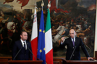 20130715 ROMA-ESTERI: LETTA INCONTRA IL PRIMO MINISTRO DI MALTA MUSCAT