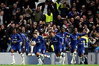 5th November 2019; Stamford Bridge, London, England; UEFA Champions League Football, Chelsea Football Club versus Ajax; Cesar Azpilicueta of Chelsea celebrates his goal but it is disallowed via VAR  - Editorial Use