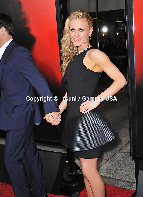 Anna Paquin, Stephen Moyer   arriving at True Blood Season 6 Premiere at the Arclight Theatre in Los Angeles.