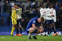 Tottenham players celebrate their 2-1 victory during Chelsea Under-23 vs Tottenham Hotspur Under-23, Premier League 2 Football at Stamford Bridge on 13th April 2018