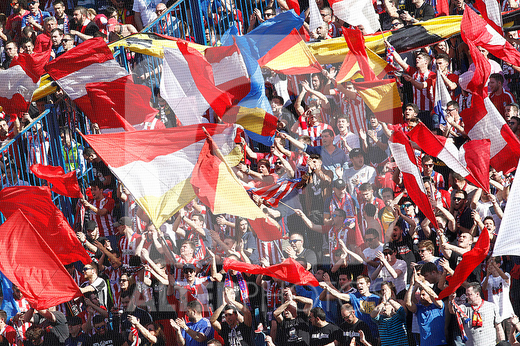 Atletico de Madrid's supporters during La Liga match. March 19,2017. (ALTERPHOTOS/Acero)