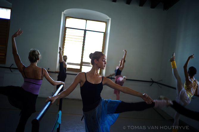Ballet students at the Pro Danza school in Mariano, Havana, Cuba on Nov. 3, 2010.