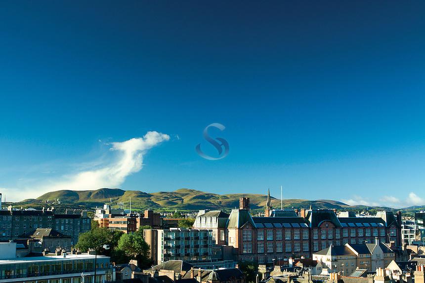 The Pentland Hills from Edinburgh Castle, Edinburgh