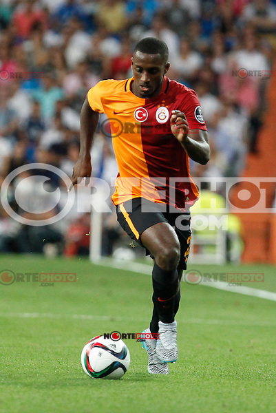 Galatasaray´s Chedjou during Santiago Bernabeu Trophy match at Santiago Bernabeu stadium in Madrid, Spain. August 18, 2015. (ALTERPHOTOS/Victor Blanco)