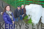 SPOUT: Pauline O'Connell (artist) pictured with Ken O'Neill and Maurice Harmon of Milltown Community Council ahead of a special film on the local water spout which will be screened in the town on November 26th.