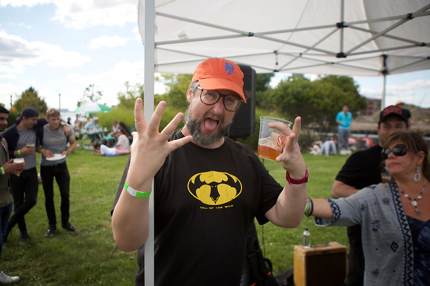 Brooklyn, NY - September 9, 2017: The 8th Annual Pig Island in Erie Basin Park in Red Hook.<br /> <br /> Credit: Clay Williams.<br /> <br /> &copy; Clay Williams / http://claywilliamsphoto.com