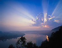 Sunrise over Ohio River from Otter Creek State Park, Kentucky