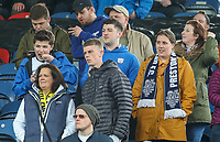 Preston North End fans take their seats before the game<br /> <br /> Photographer Alex Dodd/CameraSport<br /> <br /> The EFL Sky Bet Championship - Huddersfield Town v Preston North End - Friday 14th April 2016 - The John Smith's Stadium - Huddersfield<br /> <br /> World Copyright &copy; 2017 CameraSport. All rights reserved. 43 Linden Ave. Countesthorpe. Leicester. England. LE8 5PG - Tel: +44 (0) 116 277 4147 - admin@camerasport.com - www.camerasport.com