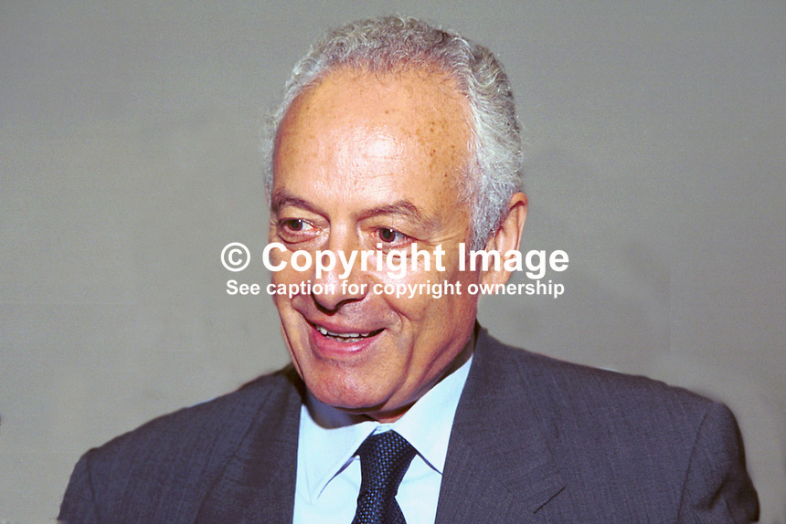 Michalis Attalides, Cyprus High Commission, London, Ref:199909055, Liberal Democrats, Annual Conference, Harrogate, England, UK, September, 1999...Copyright Image from Victor Patterson, 54 Dorchester Park, Belfast, UK, BT9 6RJ..Tel: +44 28 9066 1296.Mob: +44 7802 353836.Voicemail +44 20 8816 7153.Skype: victorpattersonbelfast.Email: victorpatterson@mac.com.Email: victorpatterson@ireland.com (back-up)..IMPORTANT: If you wish to use this image or any other of my images please go to www.victorpatterson.com and click on the Terms & Conditions. Then contact me by email or phone with the reference number(s) of the image(s) concerned.